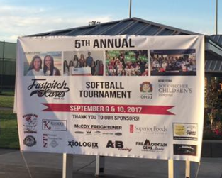 Fastpitch Cares Banner